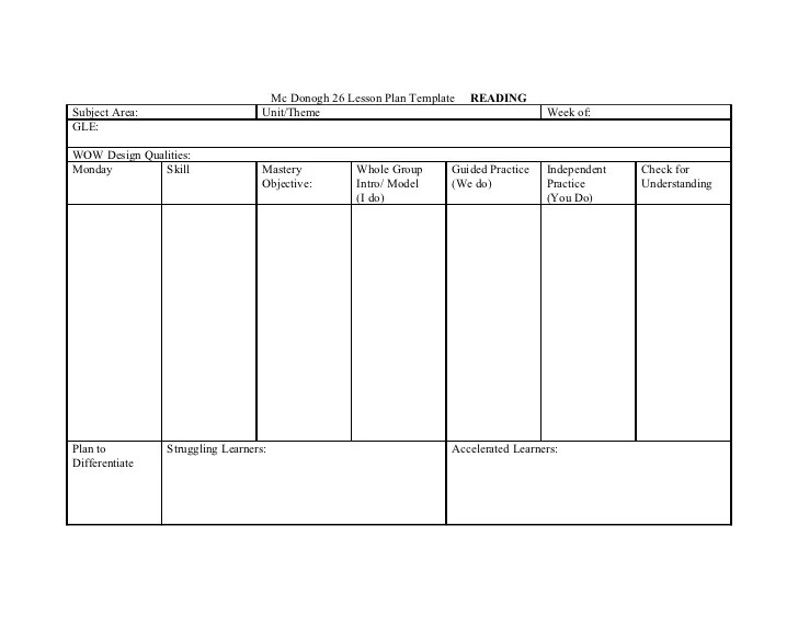 differentiated instruction lesson plan template - Josemulinohouse - sample guided reading lesson plan template