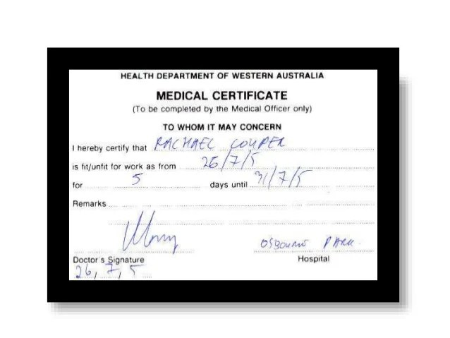 medical certificate for leave from doctor - Minimfagency - medical certificate from doctor