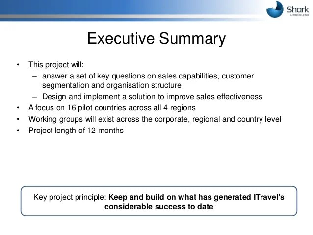 Bakery Business Plan Sample Executive Summary Bplans Proposal For Boosting Sales Force Effectiveness At Itravelco