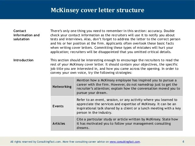 Cover Letter Consulting – Mckinsey Cover Letters