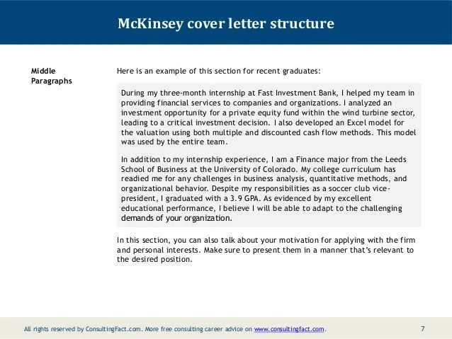 mckinsey cover letter example