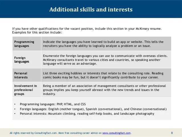 sample soft skills resume