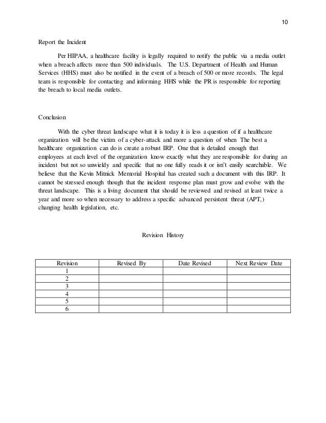 incident report plan - Pinarkubkireklamowe