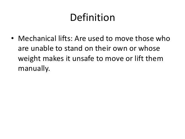 mechanical lift definition