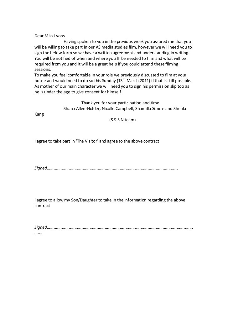 Media Release Form Consent  What Sections To Include In Your