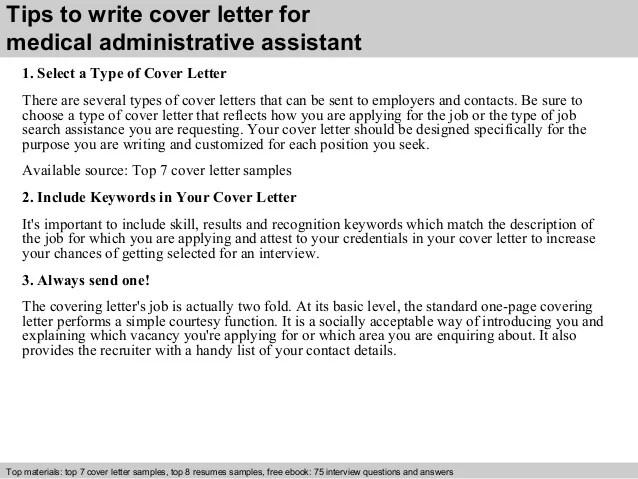 sample medical administrative assistant cover letter - Goal