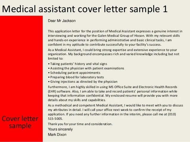 cover letter medical assistant - Goalgoodwinmetals