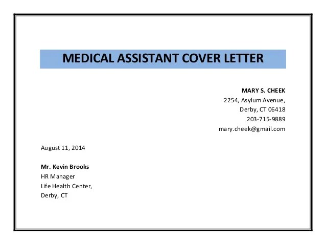 job cover letter medical - Cover Letter For Medical Assistant Job