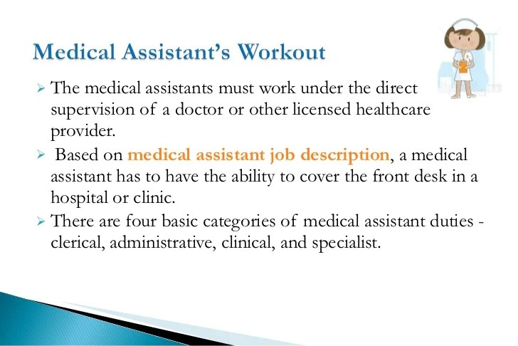 duties of medical assistant - Goalgoodwinmetals - medical assistant job description