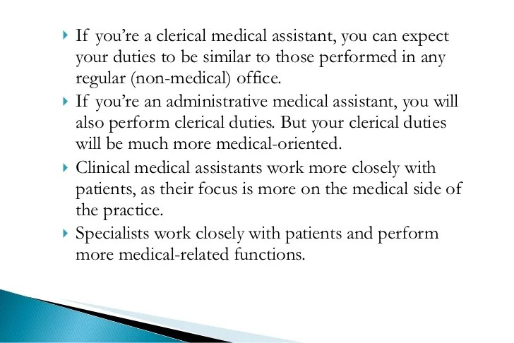 clerical duties of a medical assistant - Ozilalmanoof