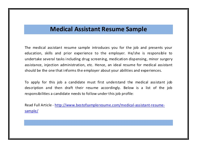 Resume For Jobs Sample Resumes Medical Assistant Resume Sample Pdf