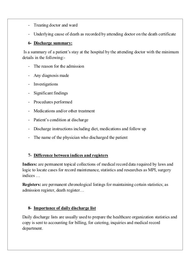 medical summary template - Minimfagency