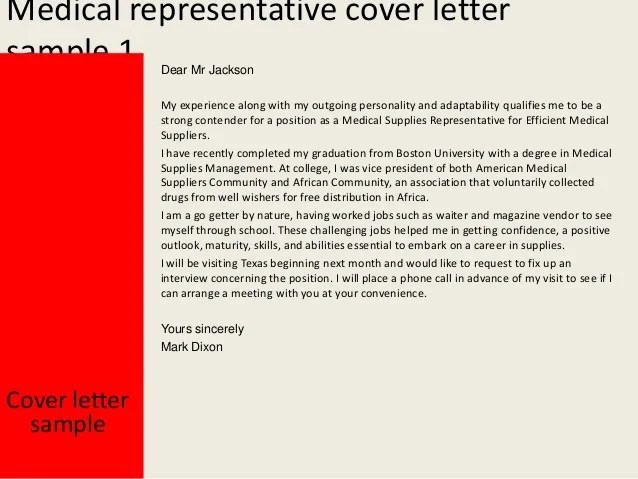 Cover Letter Sample For A Resume The Balance Make Medical Representative Cover Letter