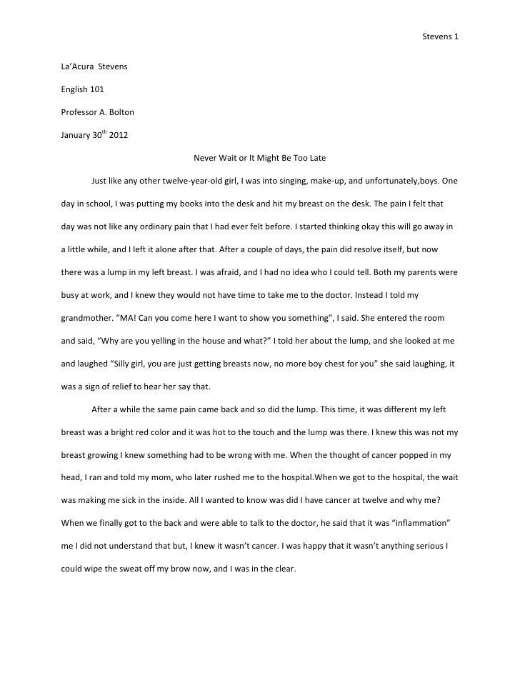 College application report writing 250 words