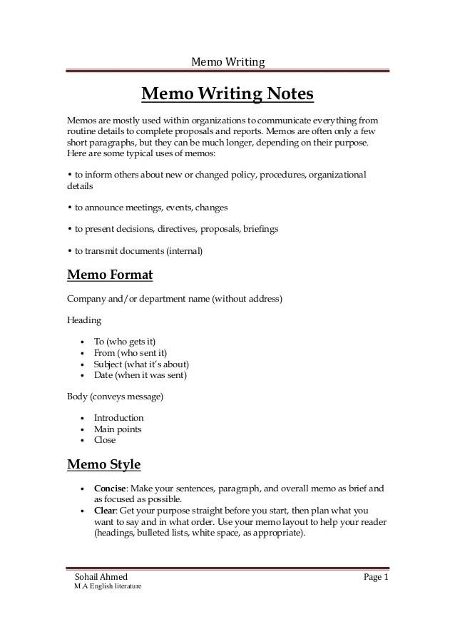 internal memo template - Apmayssconstruction