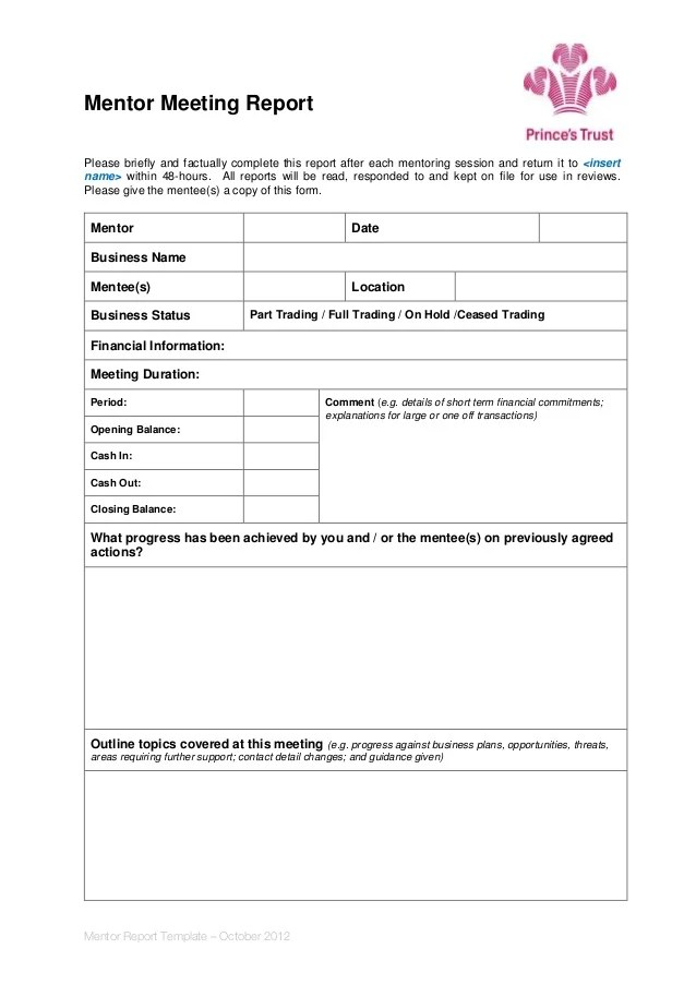 meeting report format - Trisamoorddiner