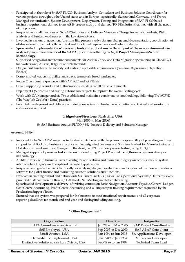 sap business analyst resumes - Funfpandroid