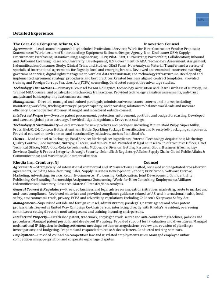 trademark attorney resume - Alannoscrapleftbehind - patent agent sample resume