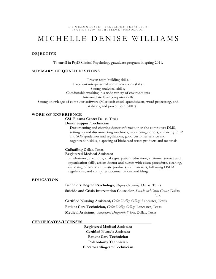 Clinical Psychologist Resume Financial Auditor Sample Resume