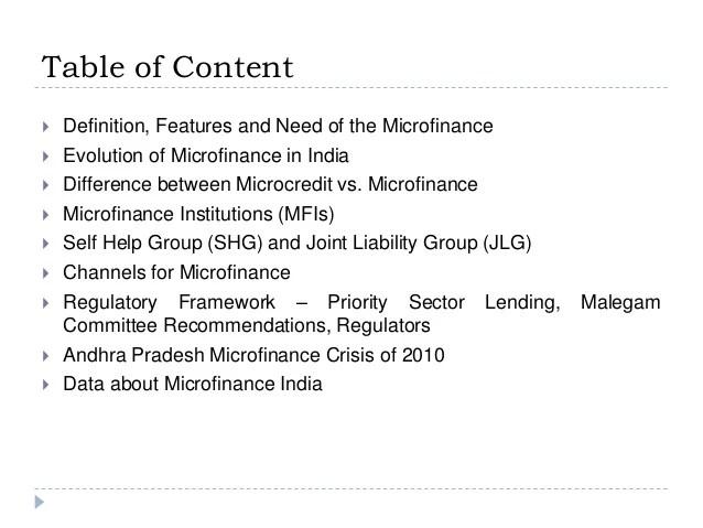 Presentation - Microfinance in India