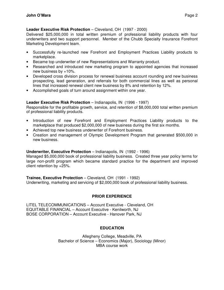 Underwriter Job Description For Resume - Resume Ideas