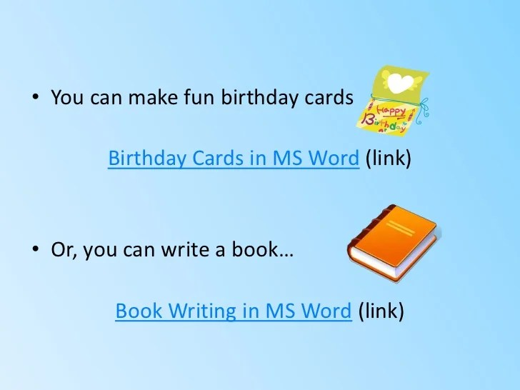 how to make a birthday card on microsoft word - Alan