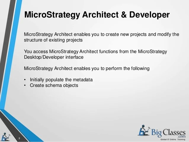 microstrategy developer - Josemulinohouse - microstrategy architect sample resume