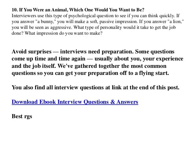 sample responses to interview questions - Selol-ink