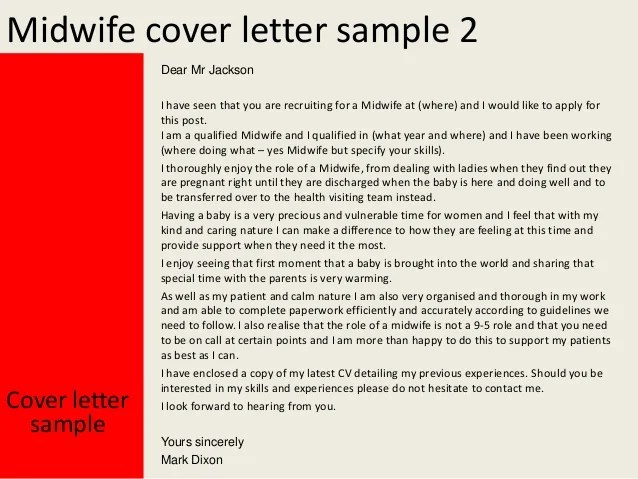 Cover Letters Medical Cover Letters Sample Cover Letters Resume Cover Letters Midwife Cover Letter