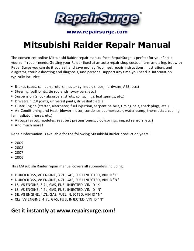 mitsubishi raider fuse diagram