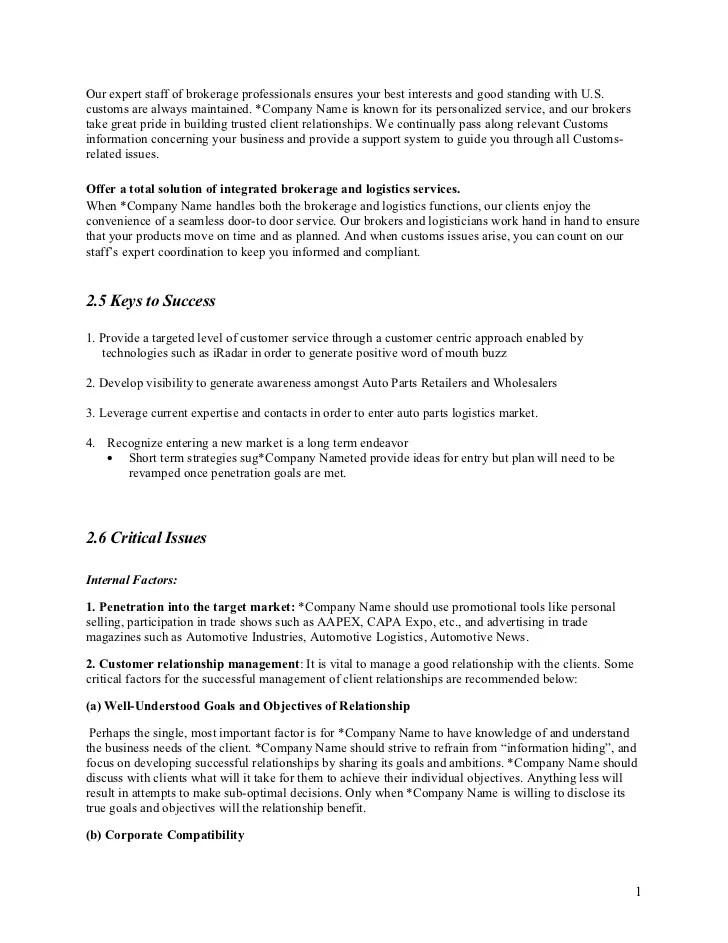 Business News Los Angeles Times Sample Marketing Plan