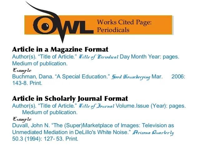 mla format citation article - Selol-ink