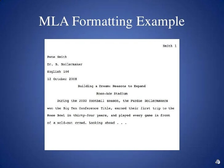 mla formattting
