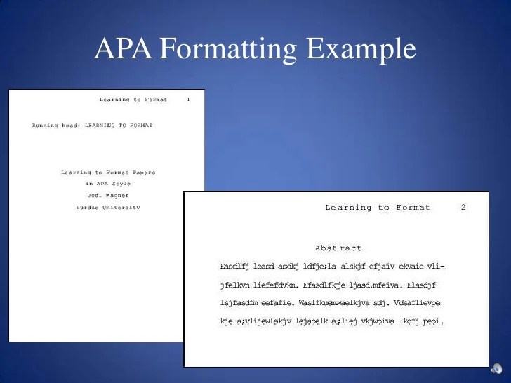 examples of apa essays