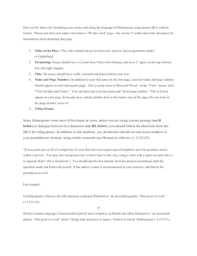 mla format esay - Brucebrianwilliams - mla formatted essay