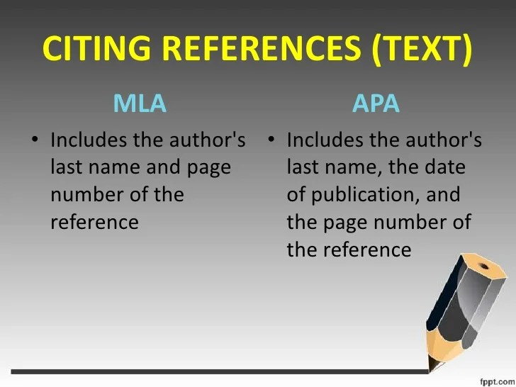 citing sources mla in text