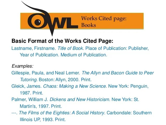 how to make a work cited page in mla format - Onwebioinnovate