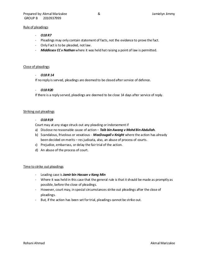 pleadings templates