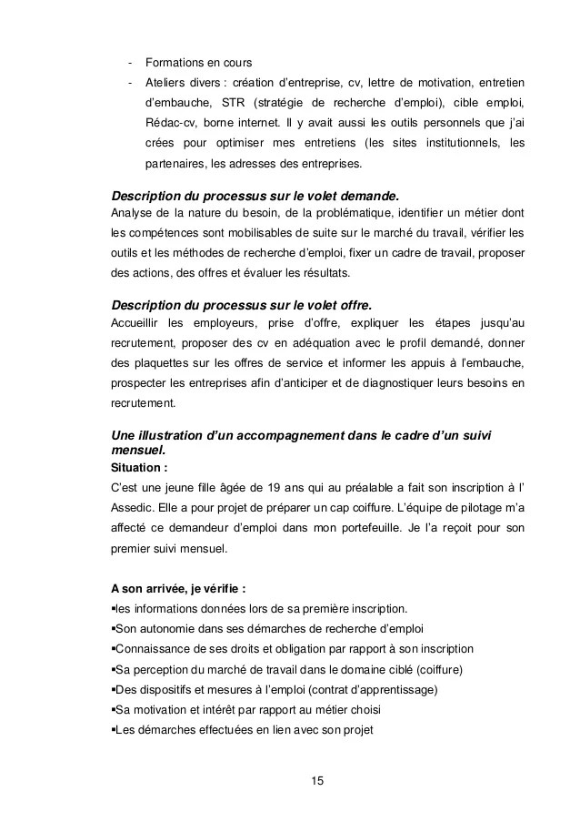 evaluation cv et lettre de motivation