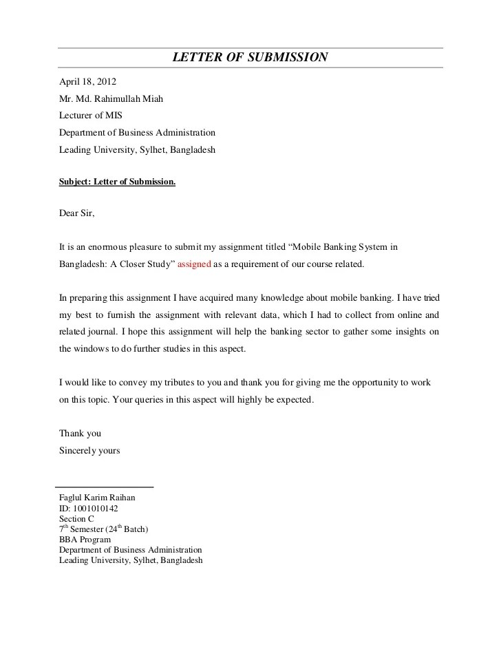 Student Complaint Letter Template Rmit University Mobile Banking System In Bangladesh A Closer Study