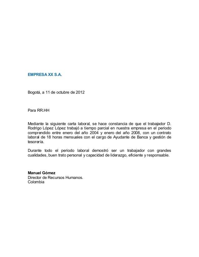 Carta De Recomendacion Profesional cvfreepro