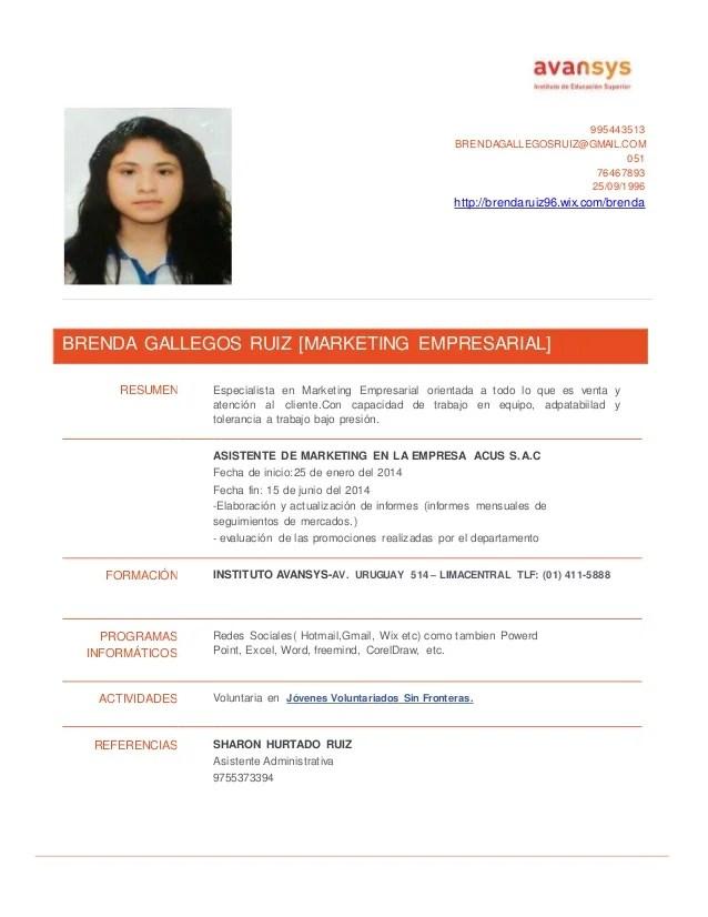 Curriculum Vitae Ejemplos Para Jovenes Sample Resume Service