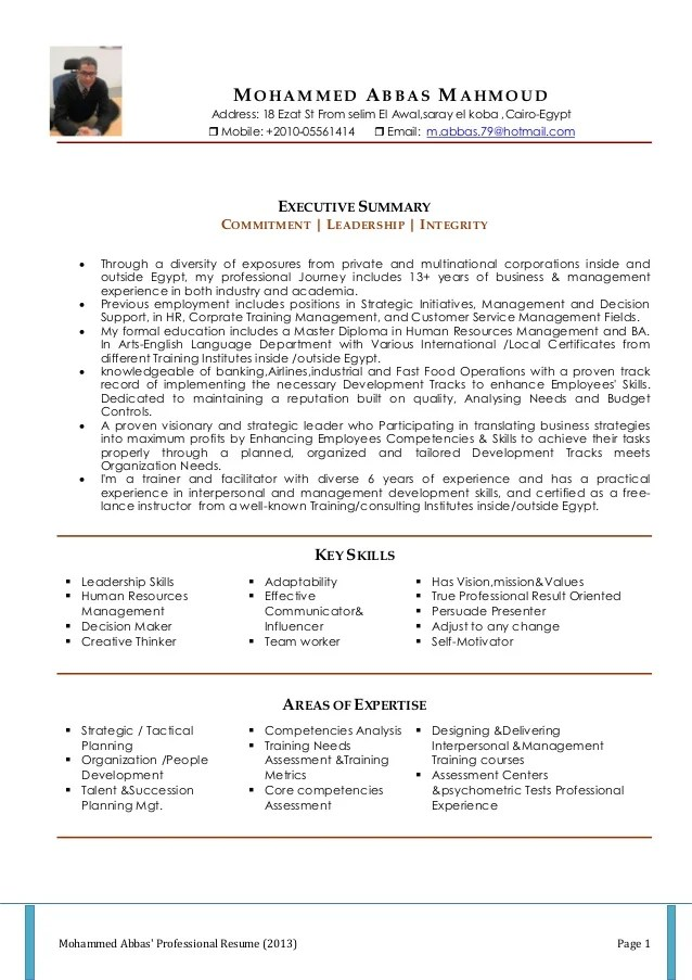resume format for cabin crew