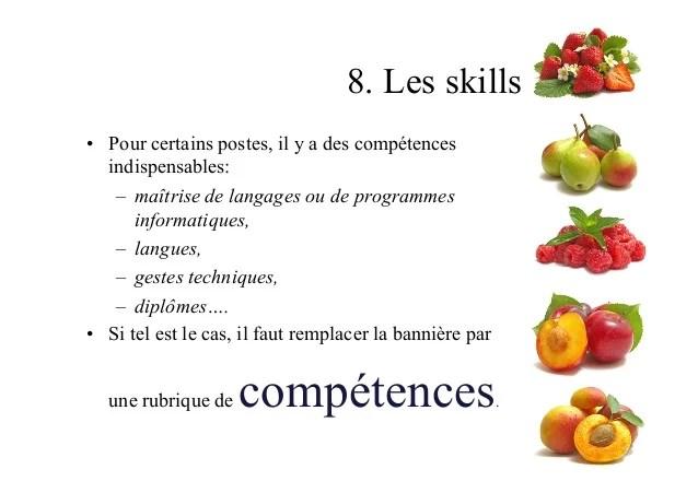cv langues competences informatiques