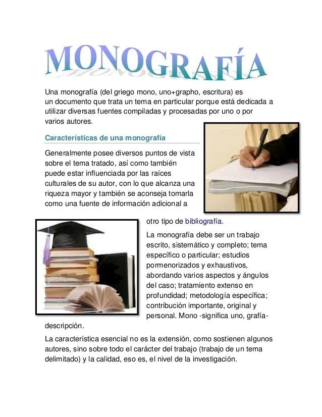 Que ES Una Monografia