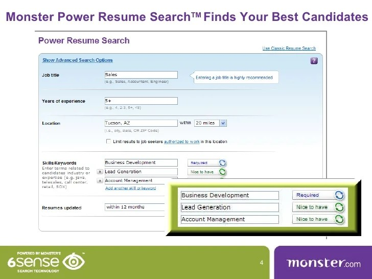 monster cv search