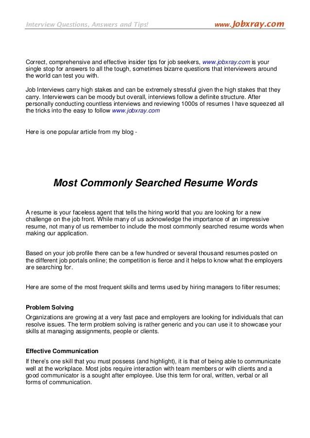 effective resume words - Minimfagency