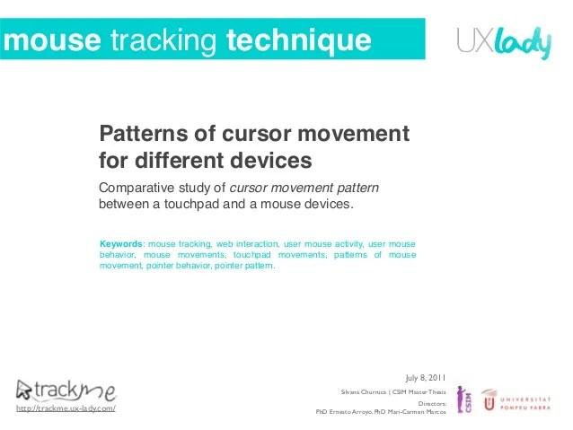 Mouse Tracker ophion - mouse tracker