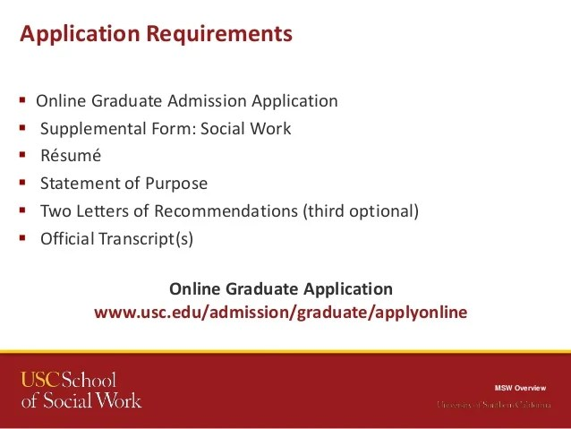 Before You Apply Usc Graduate Admission Mswusc Webinar