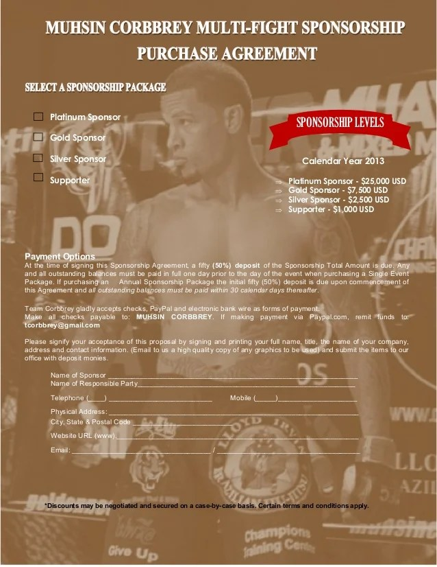 Sport Sponsorship Proposal Template - Contegri - athlete sponsorship proposal template